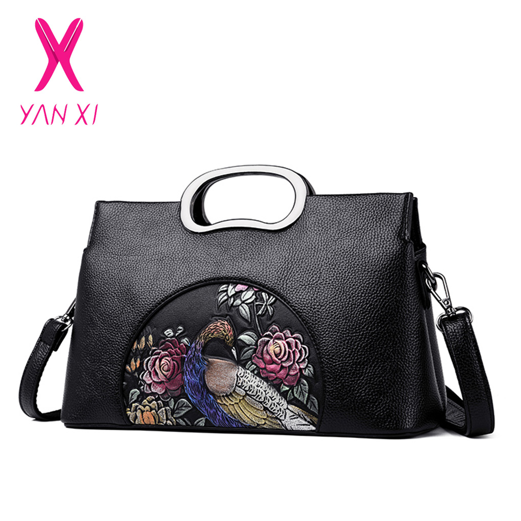 YANXI Handbag Women Shoulder Bag Flowers Pattern Totes High Quality Messenger Bags Designer Brand Womens Crossbody Bags LadyYANXI Handbag Women Shoulder Bag Flowers Pattern Totes High Quality Messenger Bags Designer Brand Womens Crossbody Bags Lady