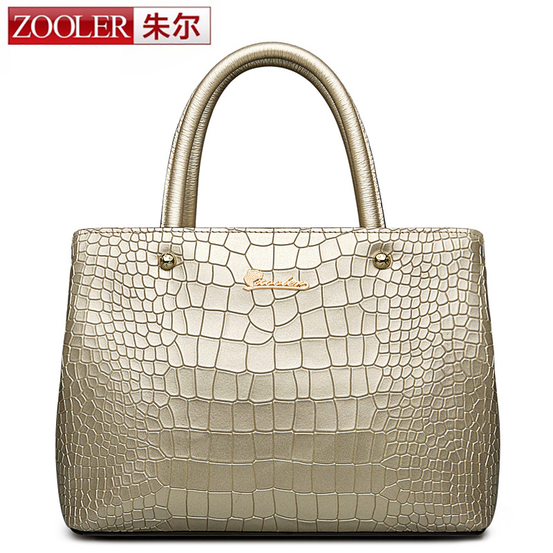 ZOOLER genuine leather Bag Ladies Luxury woman bags stylish top handle handbags  Solid soft material bolsa feminina #1308 zooler 2017 new arrival genuine leather handbags woman design top quality crossbody bag luxury brand red ladies bags hs 3211