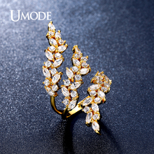 UMODE Brand New High Quality Fashion Jewelry Bague Rings For Women Aneis 0.1ct Marquise Cut Adjustable Wedding Bands AUR0318A