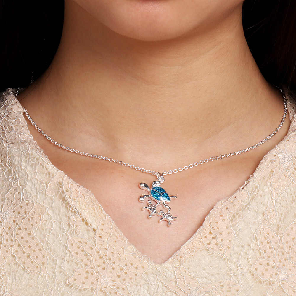 1 шт. 2019 Новый Кристалл синий опал морская подвеска в виде черепахи ожерелье Шарм Элегантные женские модные ювелирные изделия подарок ожерелье с опалом