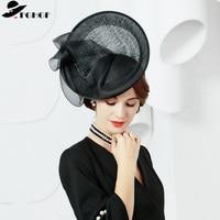 FGHGF 2018 New Elegant Women Fasinator Hats Black Ladies Headband Kentuncky Derby Hats Tea Party Hat Headwear Formal Headpiece