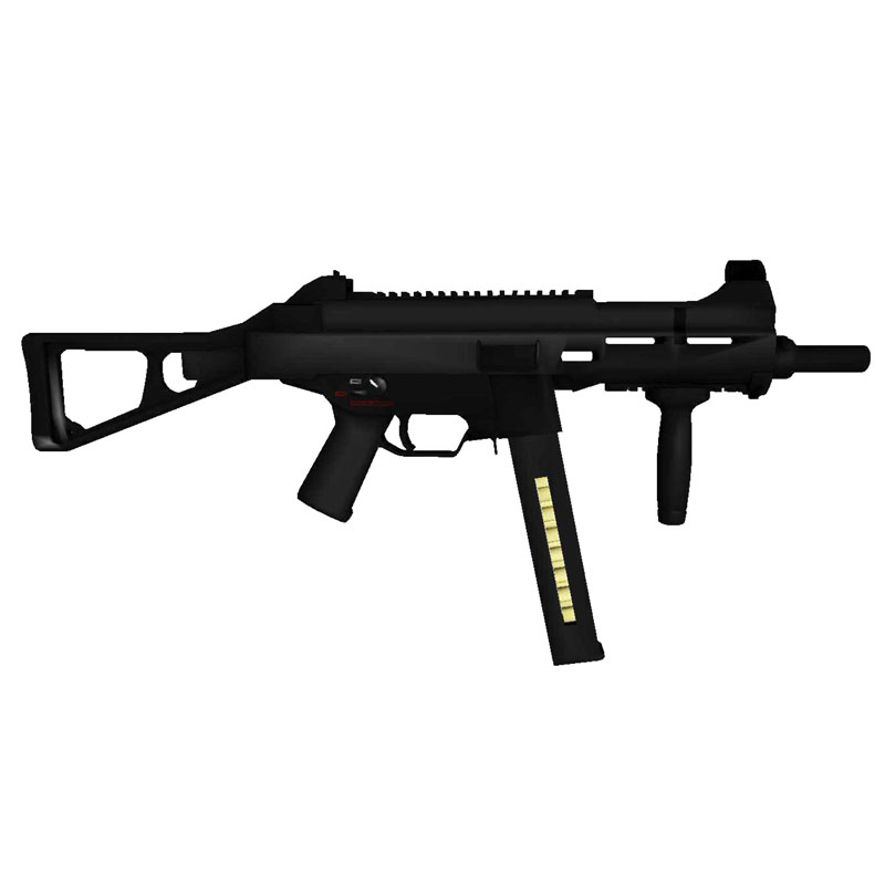 DIY 1:1 HK UMP 45 Sub Machine Gun Paper Model Assemble Hand Work 3D Puzzle Game Kids Toy