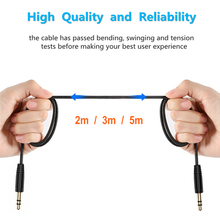 3.5mm Jack AUX Audio Stereo Headphone Extension Cables 2/3/5m Male To Cable Cord for IPhone Earphone Car Speaker