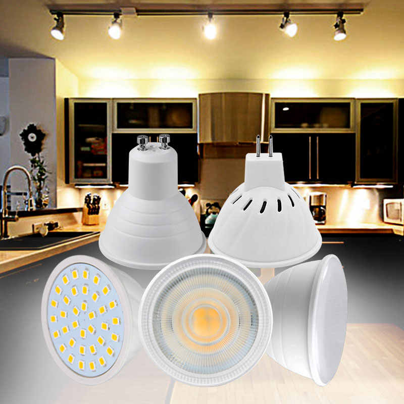 GU10 MR16 LED Spotlight 2835SMD 4W 6W 8W COB 5W 7W AC 220V Led Lamp Condenser Bulb Diffusion Light LED Light Bulbs for Home