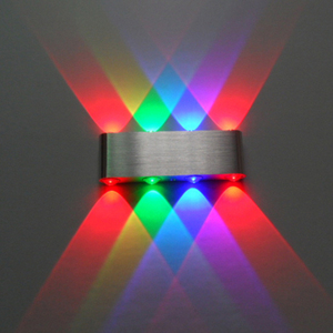 Image 2 - Modern 8W up down led wall light AC85 265V high quality cuboid colourful wall lamp shop bar restroom bedroom reading decoration