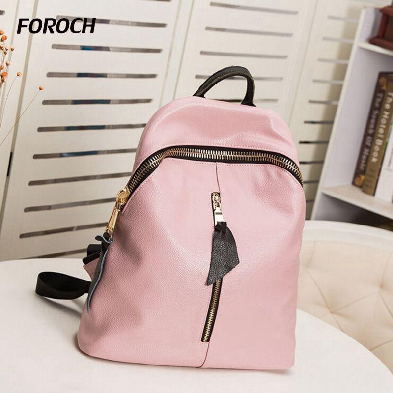 Fashion Women Backpack High Quality Genuine Leather Backpacks for Teenage Girls Female School Shoulder Bag Bagpack mochila 170