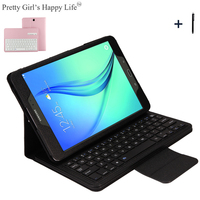 For Samsung GALAXY Tab A 9.7 T550 T555 P550 P555 Wireless Bluetooth Keyboard Case Cover For Samsung Tab A 9.7'' T550 +Stylus