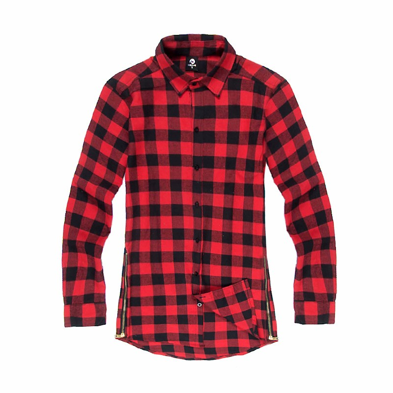 Online Cheap Solid Flannel Shirt Group