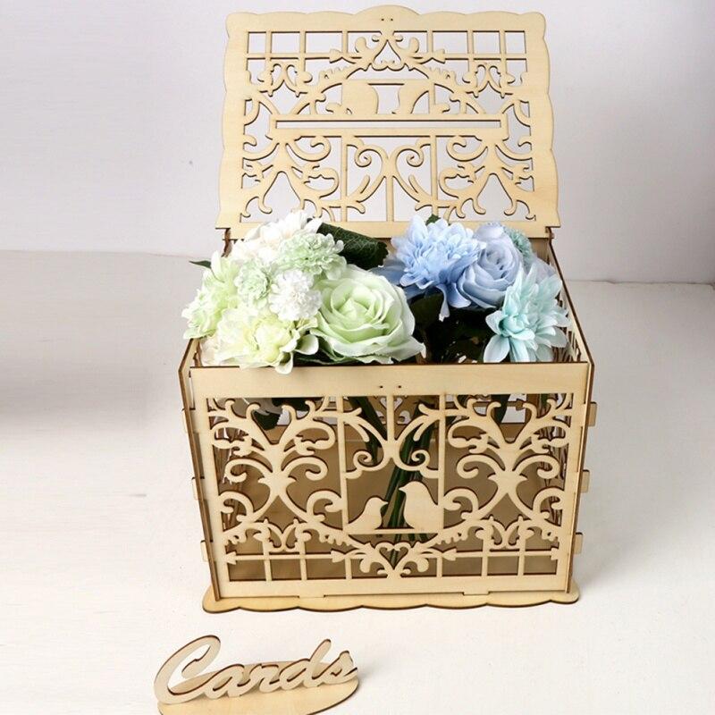 diy wedding gift card box wooden money box with lock
