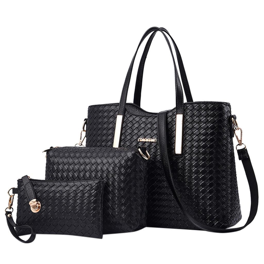 3Pcs Women Leisure Messenger Bags+Handbag+Wallets
