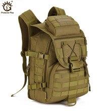 Outdoor Tactical Backpack 40L Military bag Army Trekking Sport Travel Rucksack Camping Hiking Trekking Camouflage Bag недорого