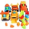 Baby speelgoed auto kinderen strand speelgoed auto zand strand speelgoed bouw voertuig techniek auto baggeren schop play zand tool 3