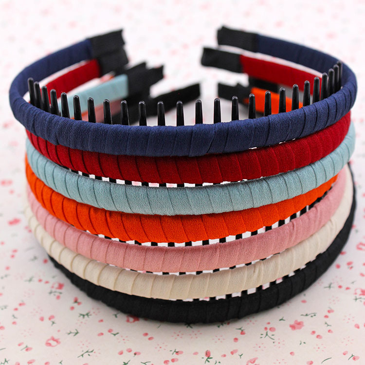Hair accessories Han edition cloth art toothed hair band Head hoop combs