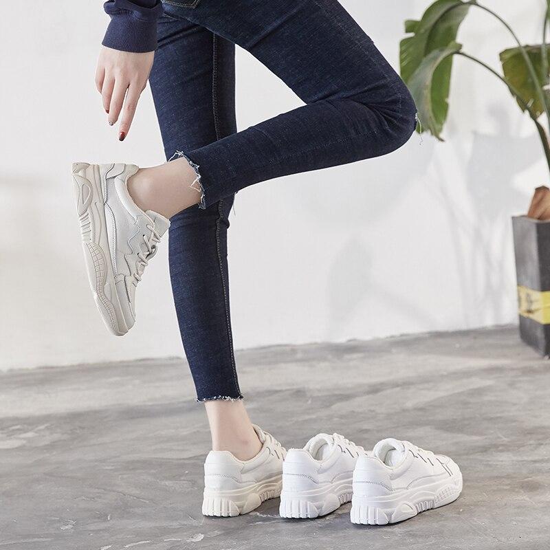 Plus La Chaussures Sport Femme Coréenne Casual Ins Nouvelle Plat Version Blanc 2018 Sauvage Velours De 1 2 zSxqtzr