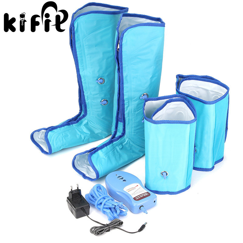 KIFIT Ankle Therapy Massage Slimming Legs Foot Massager Air Compression Leg Wrap Boot Socks Heating Sauna Belt Relax Vibrator evercryo inflatable air pump adjustable ankle brace medical ankle cold compression wrap