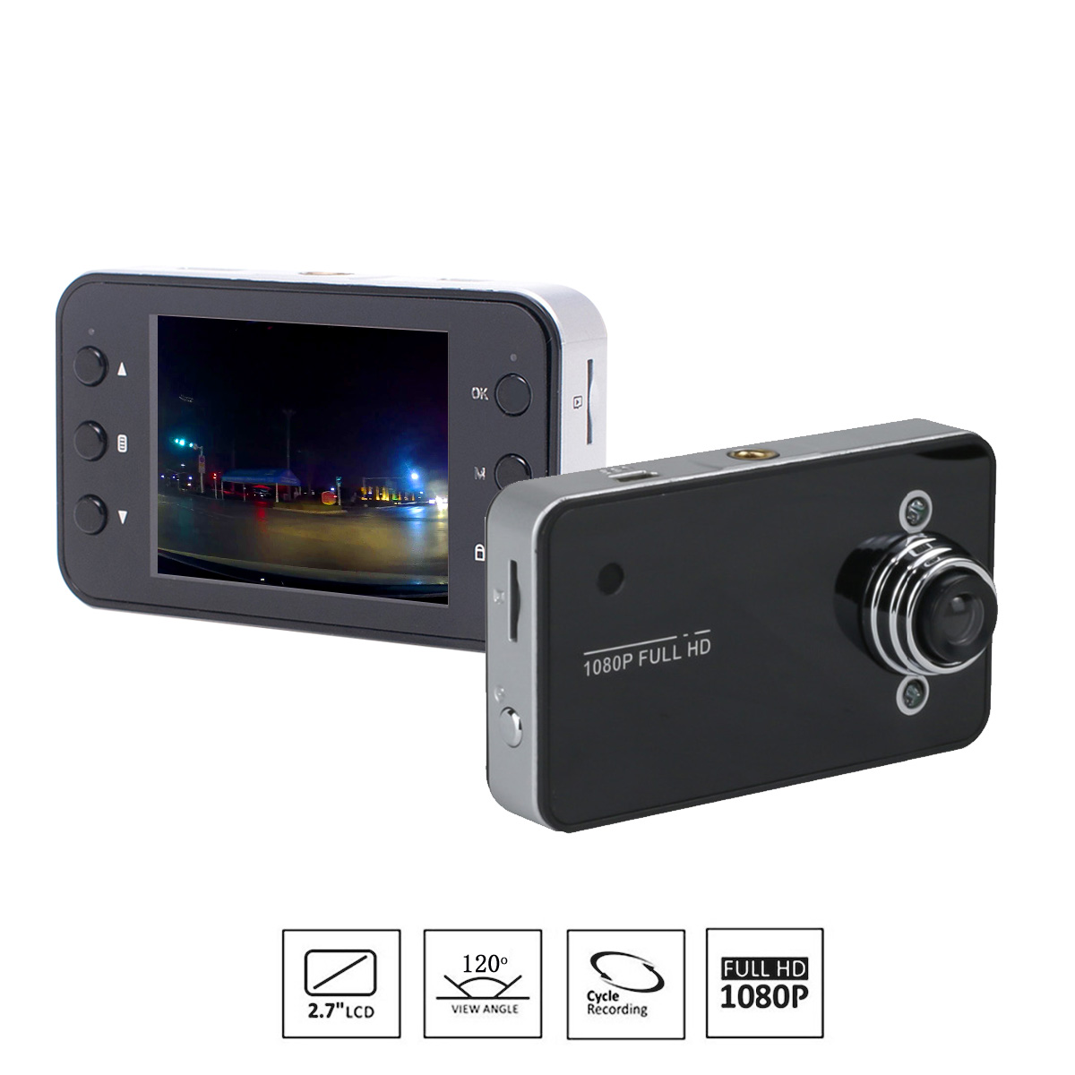 HD1080P Visione Notturna LED Super HD Auto Nera DVR del Cruscotto Della Macchina Fotografica Video Recorder Registrazione del Ciclo Mini Dash Cam Dvr