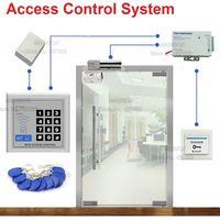 ID/EM Access Control System for Frameless Glass Door Card Reader & Keypad Electric Bolt Lock+Power Supply+Door Bell+Switch