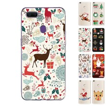 Happy New Year Merry Christmas Printed Soft Silicone TPU Case for OPPO F9/F9 Pro F7 F5 F3 Anti-Scratch Cover Coque(China)