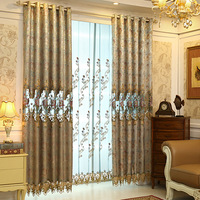 Curtains For Living Dining Room Bedroom European Hollow Embroidered Curtain Fabric Half Shade Curtains Modern Simple