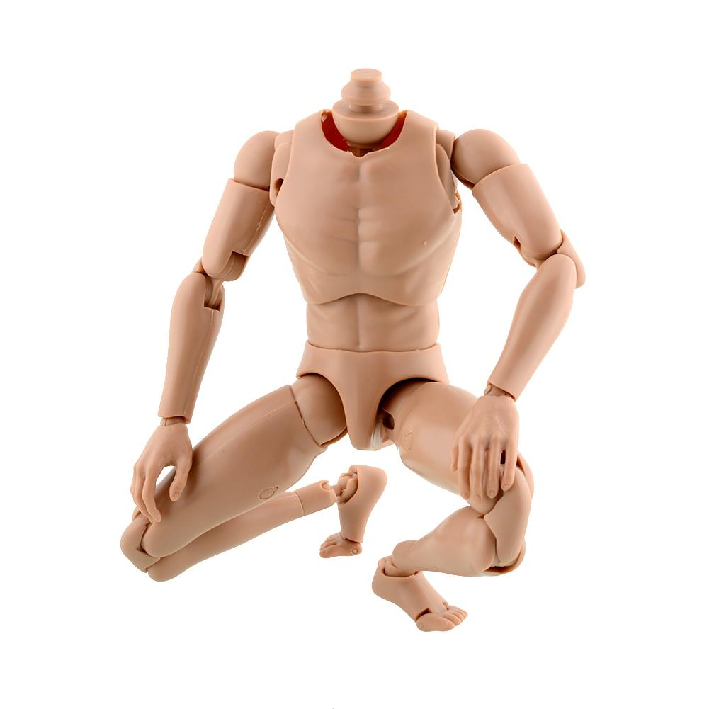 Gratis Verzending Hot Versie Smalle Schouder 1:6 Schaal Mannelijke Action Figure Menselijk Naakt Gespierd Lichaam voor SPEELGOED TTM18 TTM19