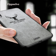 Phone Case For iPhone X Xr Xs Max Ultra Slim Canvas Fabric Embossed Deer Capinhas For iPhone X 10 IX Soft TPU Coque Fundas Capa цена