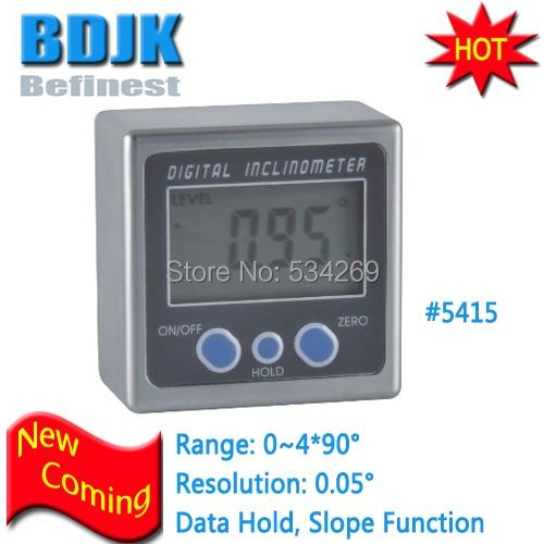 0.05 Degree Magnets Base Bevel Box Digital Angle Gauge Inclinometer digital protractor inclinometer angle meter digital bevel box 4 x 90 degree range magnetic base