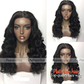 High Quality Natural Hairline Synthetic Lace Front Wig Middle Part Synthetic Hair Back Wigs For Black Women