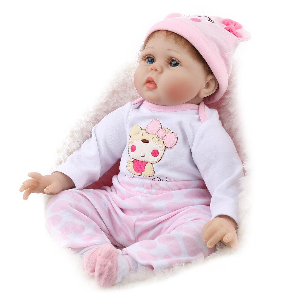 NPKDOLL 55 cm Doux Silicone Poupée Reborn Bébé 22 Jouet Pour Filles Nouveau-Né Fille Bébé Cadeau D'anniversaire Pour Enfant coucher Éducation Précoce