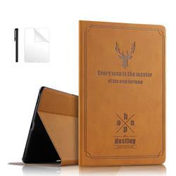 Защитная крышка из искусственной кожи чехол для samsung Galaxy Tab A A2 10,5 Крышка для samsung Tab A SM-T590 SM-T595 SM-T597 10,5 чехол + Защитная пленка на экран +