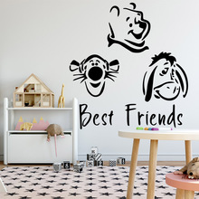 Fashionable best friends Wall Stickers Personalized Creative For Home Decor Background Art Decal
