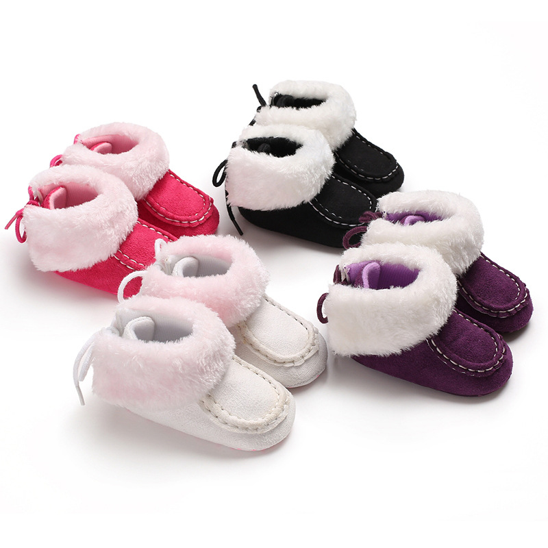 Winter 0-1 Years Old Men And Women Baby Warm Soft Bottom Baby Toddler Shoes