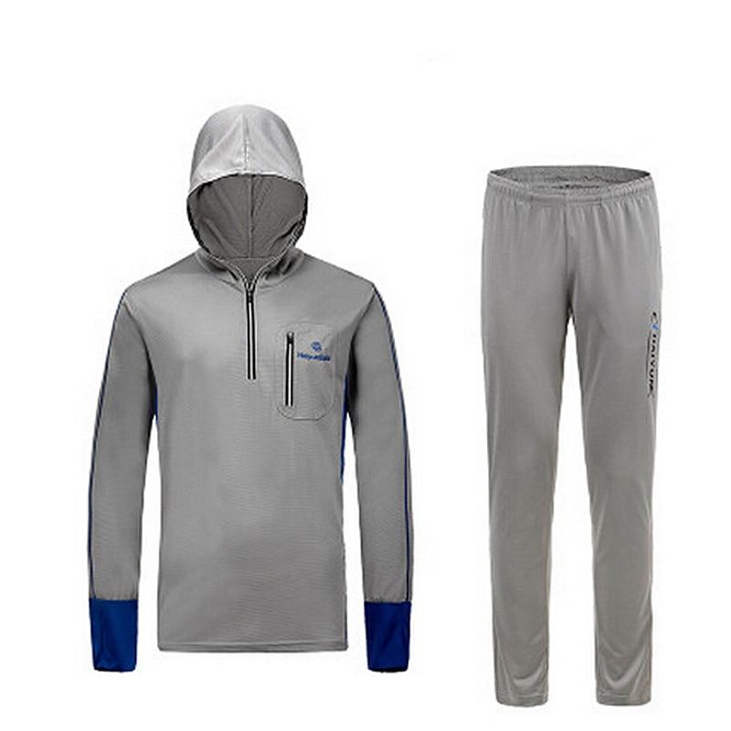 Vīrieši / sievietes Bambusa kokogles Šķiedru makšķerēšanas krekls āra sporta apģērbs Pārgājienu kāpšana Anti UV aizsardzības jersey makšķernieku sporta apģērbs