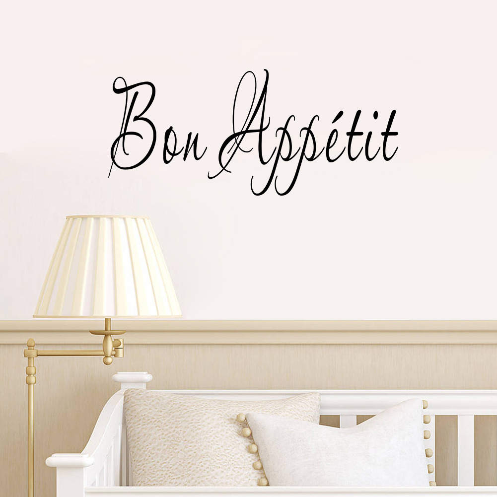 online buy wholesale kitchen wall stickers quotes from china hot modern romantic bon appetit french kitchen restaurant vinyl stickers wall art stickers free shipping wall sticker