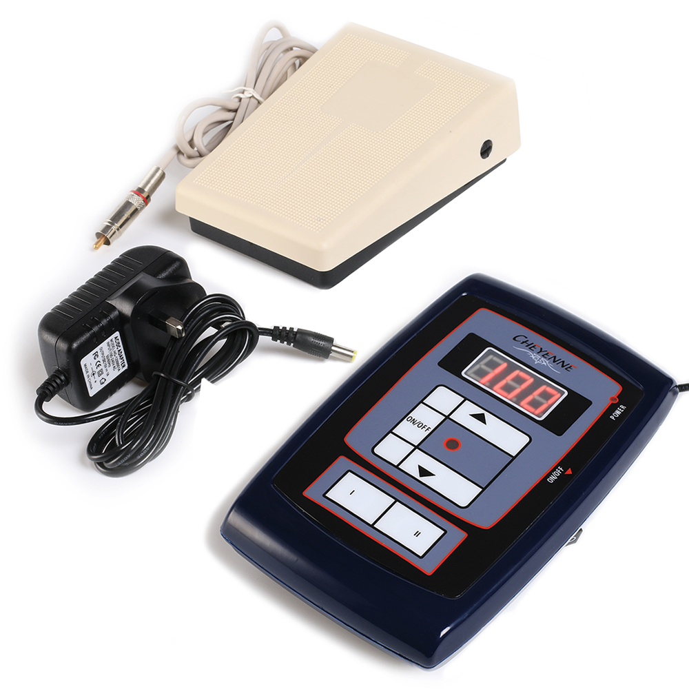 1Pcs Lcd Digital Hawk Style Tattoo Power Supply Adjustable With Footpedal for Permanent Makeup Tattoo Machine