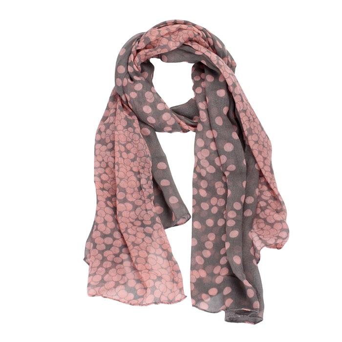 Chiffon Scarf Women Long Polka Dot Scarf Wraps Shawl Stole Soft Shawls And Scarves High Quality Foulard Femme Gift Dropship *30