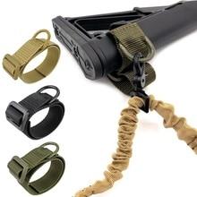 Abay Airsoft militar culata táctica Sling adaptador Rifle Stock pistola Correa fleje cinturón caza Accesorios