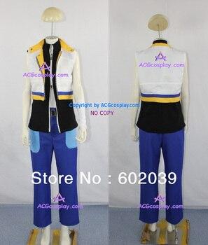 Kingdom Hearts 2 Riku Cosplay Costume with big zipper