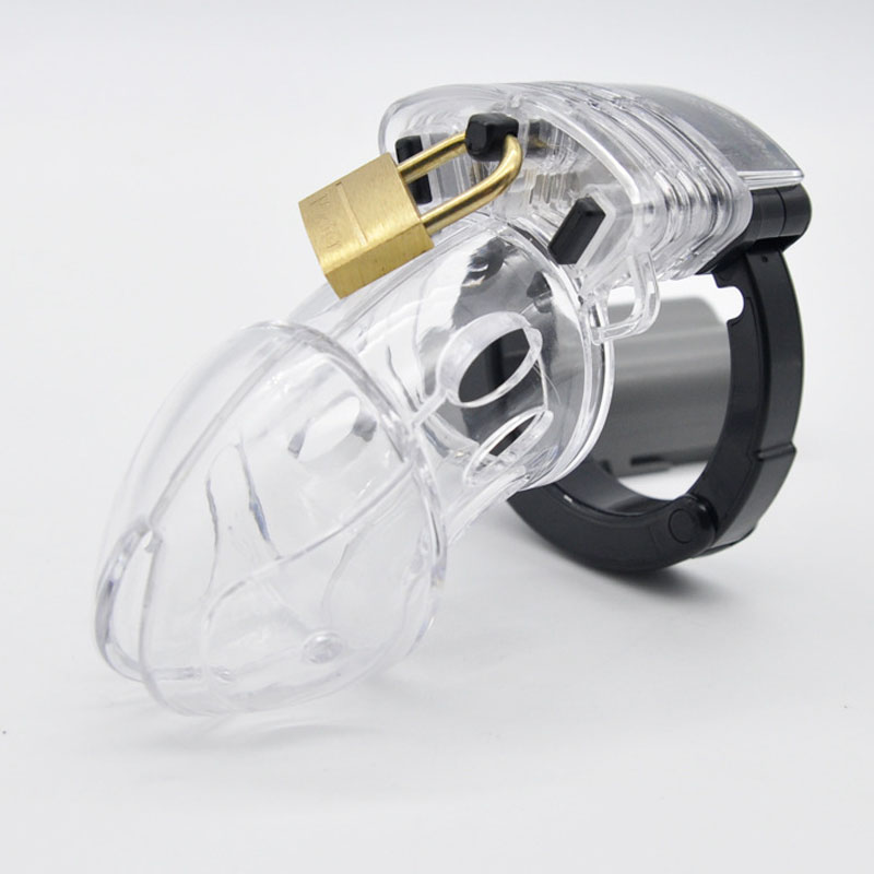 Adjustable card ring plastic chastity cage penis lock cock cage male chastity device CB6000 <font><b>cbt</b></font> BDSM cockring <font><b>sex</b></font> <font><b>toys</b></font> for men image