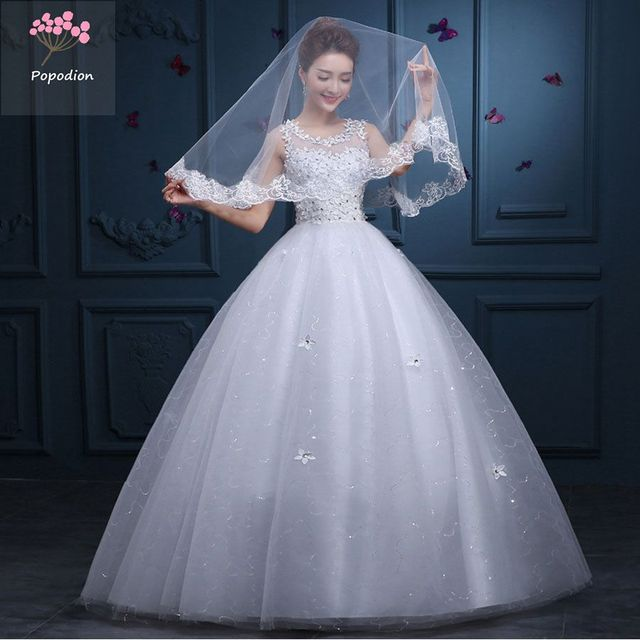 One Word Shoulder Bride Wedding Dress Pregnant Women Wedding Dresses