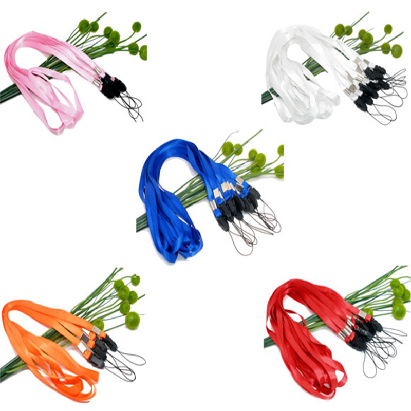 Polyester & Plastic ID Holder Neck Strap Lanyard Mixed Badge Holders & Accessories 48cm(18 7/8) long, 50 PCs