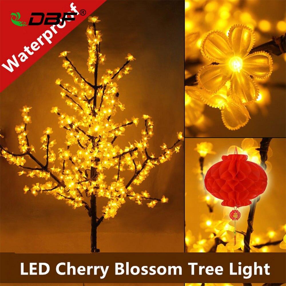 Роскошный ручной работы искусственный светодиодный Вишневый цветок дерево ночник Рождество Новогоднее свадебное украшение огни 150 см 480 светодиодный