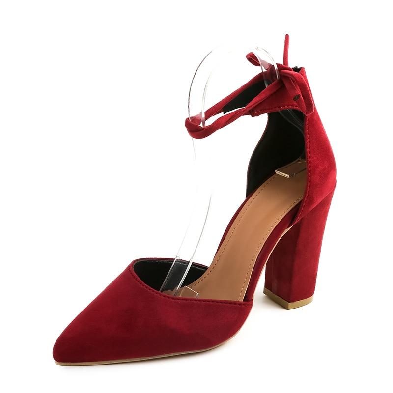 Negro Lace Sexy 2018 Tobillo Señalaron Femenina De Correa rojo Las Zapatos  Tacones Moda Mujeres Azul azul Up Bombas Negro Altos Rojo Nueva Gruesos  UZRwzqZ e67f0cace9f4