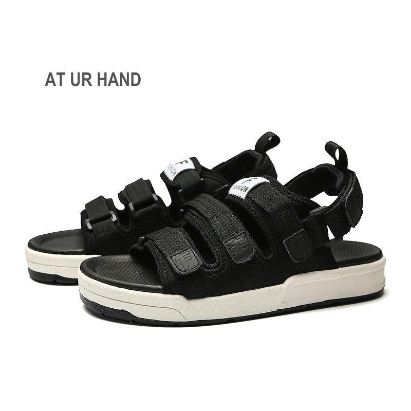 Brand Fashion Men Beach Sandals, High Quality Summer Men Sandals Men Casual Shoes Non-slip Rubber Soles Beach Shoe