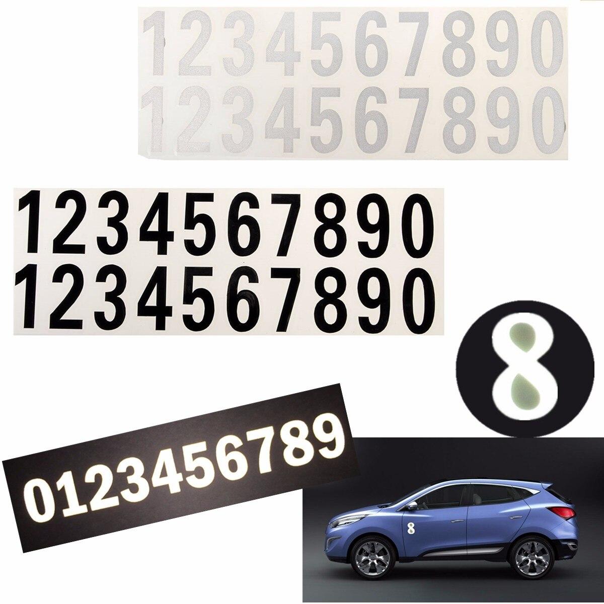 Светоотражающая наклейка с цифрами, наклейка черного и белого цвета с номером почтового ящика, для дверей дома, улицы