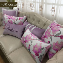 Mink cashmere pillow case The flower portrait pillow cover  cute pillowcase  Christmas household goods  bolster