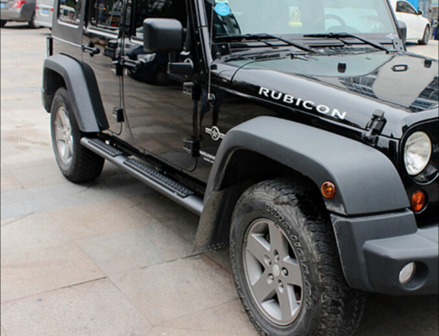 Stainless Steel Running Board Side Step FOR JEEP Wrangler Unlimited Door 4  2007 2016 Nerf Bar Good Quality Free Shipping