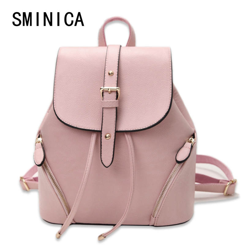 Best buy casual leather women s backpack schoolbag female backpacks women  preppy style High quality rucksack sweet ladies knapsack S01243 online cheap f4441238ac75e