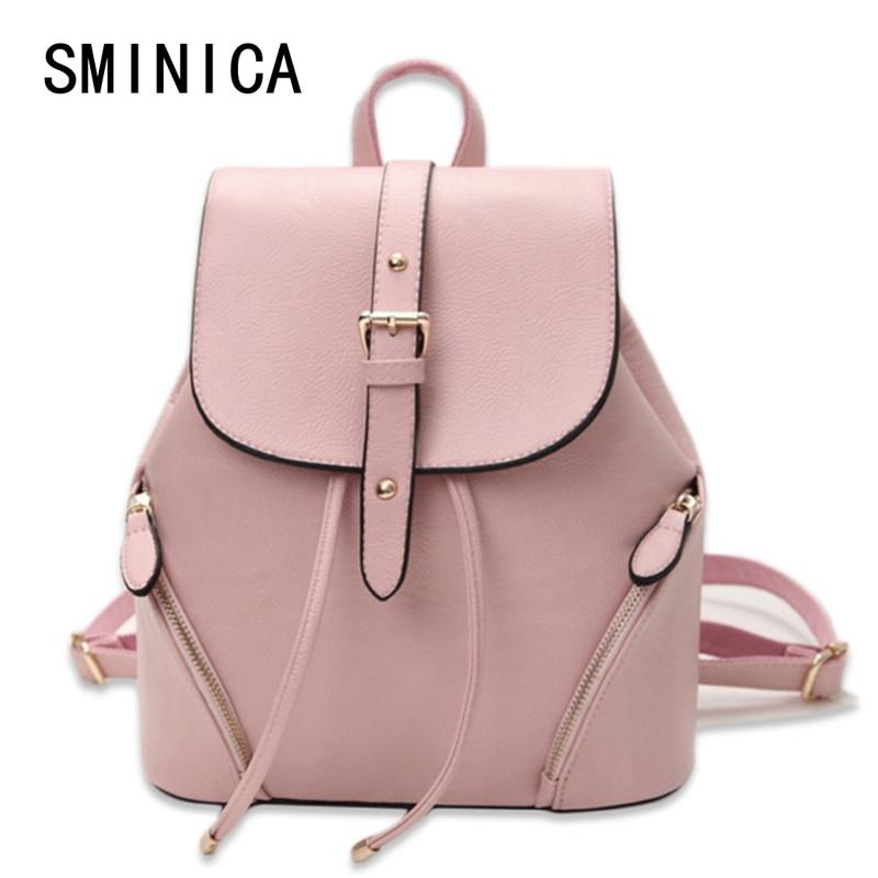 60763cf6b31 casual leather women s backpack schoolbag female backpacks women preppy  style High quality rucksack sweet ladies knapsack S01243
