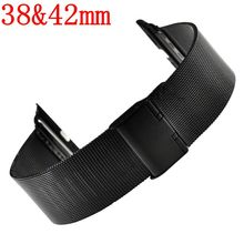 Best selling Watch Strap Band for Apple Watch iWatch Metal Stainless Steel Mesh Replacement Bracelet 38mm