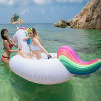 インフレータブル空気ガーデンビーチソファgiantユニコーンフローティングrideableスイミングプールフロート環境夏水楽しい空気いかだ